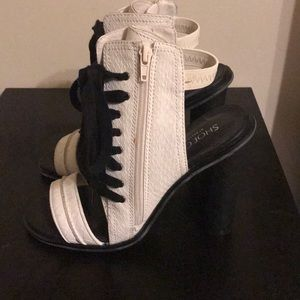 White open toe booties by Shoecult by Nasty Gal
